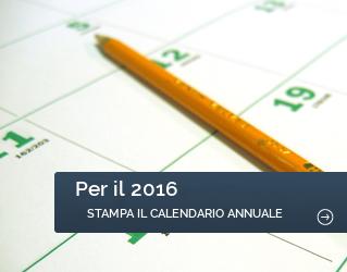 Per il 2016, stampa il calendario annuale